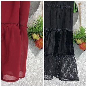 Two Plus Size Full Midi Skirts | 1X